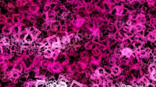 Pink and Black Alphabet Texture Background