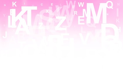 Pink and White Alphabet Background Vector
