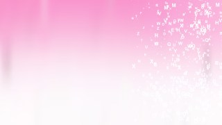 Abstract Pink and White Alphabet Letters Background Vector Image