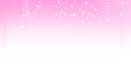 Pink and White Scattered Letters Background