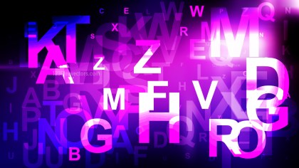 Abstract Purple and Black Scattered Alphabet Background