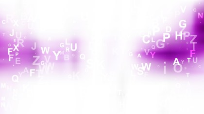 Abstract Purple and White Scattered Letters Background Vector Art