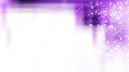 Abstract Purple and White Scattered Letters Background