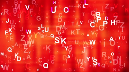 Red Random Alphabet background Vector Illustration