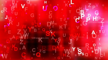 Abstract Red and Black Scattered Alphabet Background Illustrator