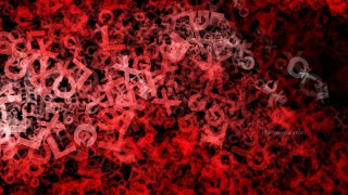 Red and Black Scattered Letters Texture