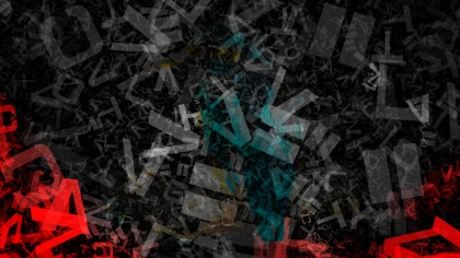Red and Black Scattered Letters Texture Background
