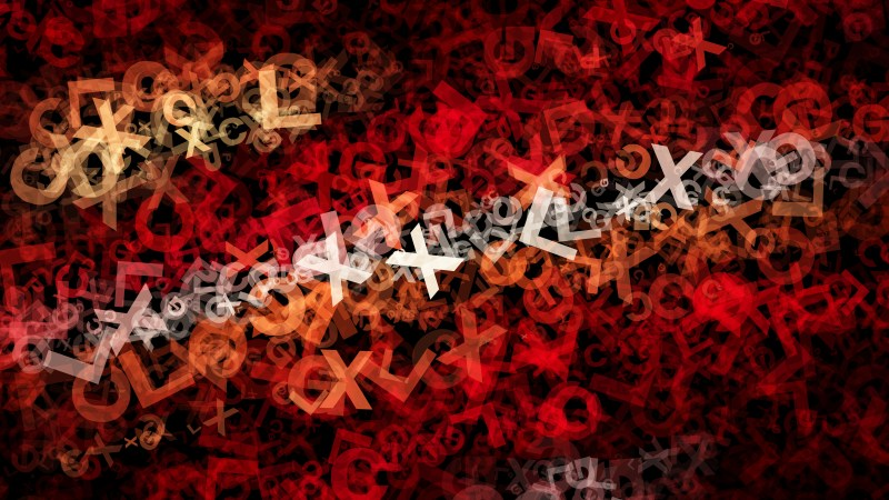 Red and Black Letters Texture Background