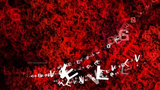 Red and Black Alphabet Letters Texture Background
