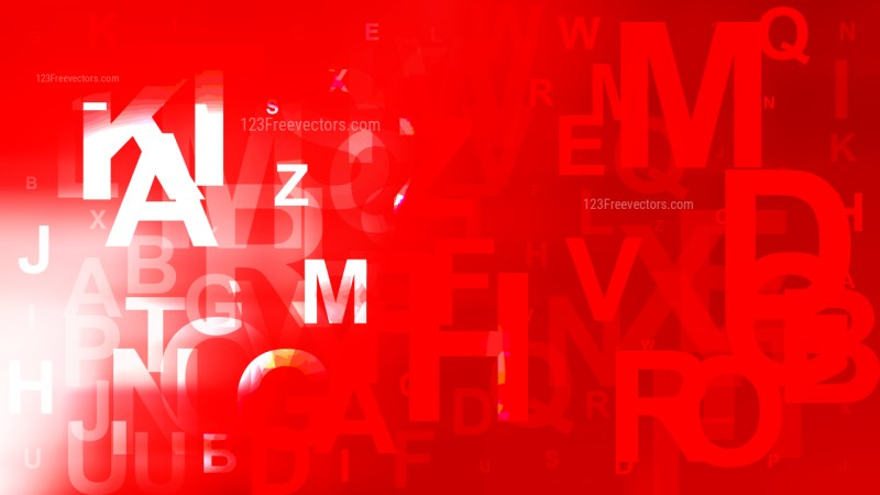Abstract Red and White Alphabet Background Design