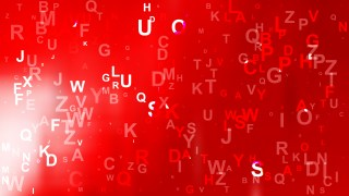 Red and White Letters Background