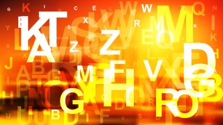 Red and Yellow Scattered Letters Background Vector Art