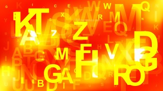 Abstract Red and Yellow Letters Background