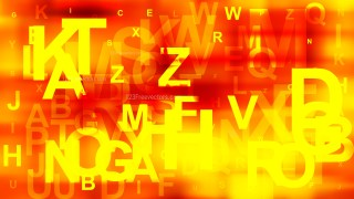 Abstract Red and Yellow Random Alphabet background