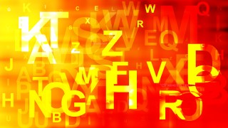 Red and Yellow Alphabet Letters Background