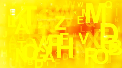 Red and Yellow Scattered Alphabet Letters Background