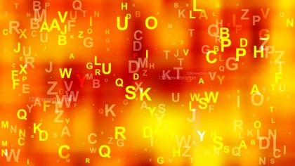 Abstract Red and Yellow Scattered Alphabet Letters Background Image