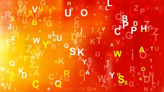 Red and Yellow Scattered Alphabet Letters Background Illustration
