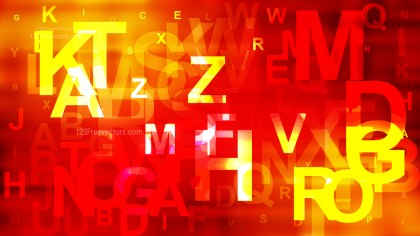 Abstract Red and Yellow Alphabet Background