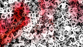 Red Black and White Scattered Alphabet Texture