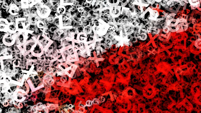Red Black and White Scattered Alphabet Letters Texture Background Image