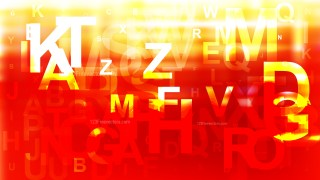 Abstract Red White and Yellow Alphabet Letters Background Image