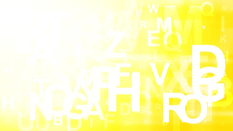 Yellow and White Letters Background Image