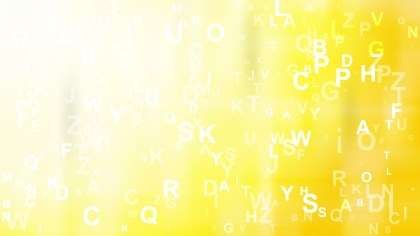 Yellow and White Alphabet Letters Background Vector Illustration