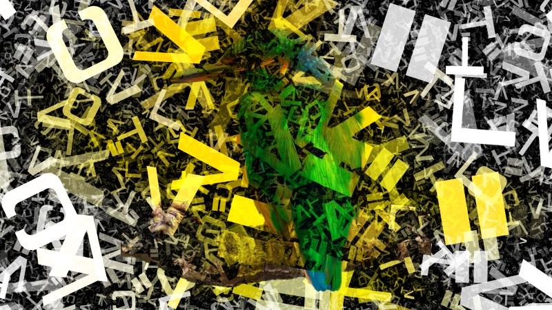 Yellow Black and White English Alphabet Texture Background