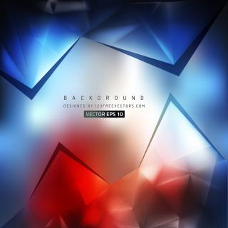 Dark Blue Red Triangle Polygonal Background Template