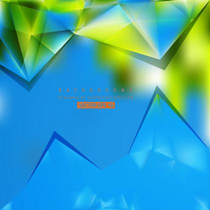 Abstract Blue Green Polygonal Triangular Background Template