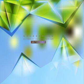 Abstract Blue Green Triangle Polygonal Background
