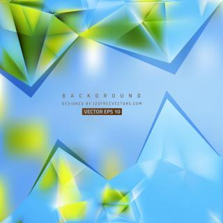 Abstract Blue Green Triangle Polygonal Background Design
