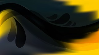 Abstract Black and Yellow Background Vector Illustration