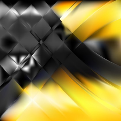 Abstract Black and Yellow Background Design