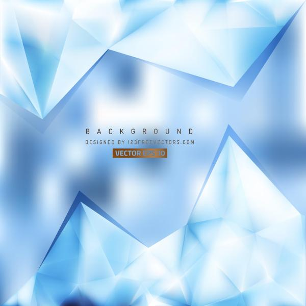 Abstract Light Blue Polygonal Triangular Background Design