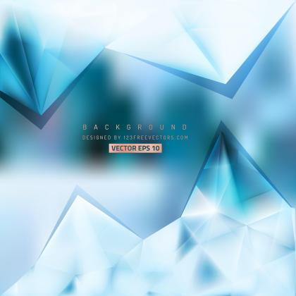 Abstract Light Blue Triangle Polygonal Background Design