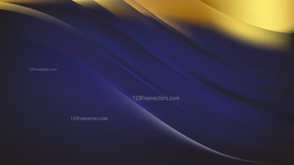 Abstract Blue and Gold Background Vector Illustration