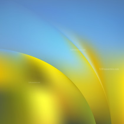 Abstract Blue and Gold Graphic Background