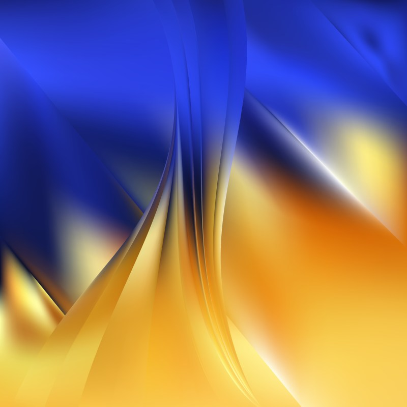 Abstract Blue and Orange Background