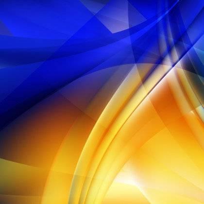 Blue and Orange Background Vector Image