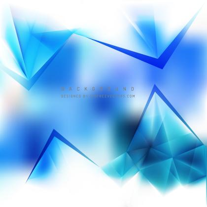 Abstract Light Blue Triangle Polygonal Background Template