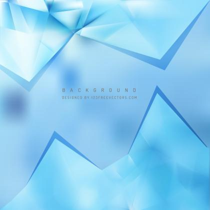 Light Blue Geometric Triangle Background Template