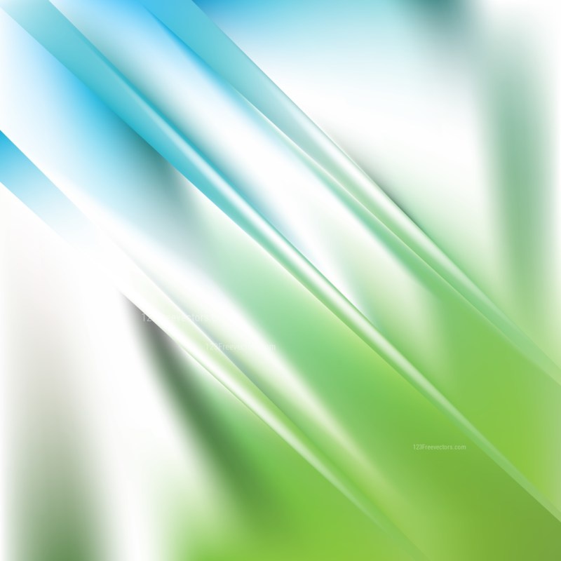 Abstract Blue Green and White Graphic Background