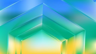 Abstract Blue Green and Yellow Background