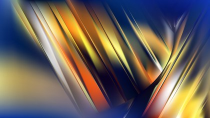 Abstract Blue Orange and Black Background Design