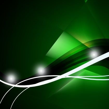 Abstract Green and Black Background Vector Illustration