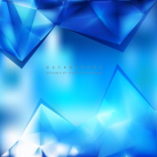 Blue Triangle Polygonal Background Design
