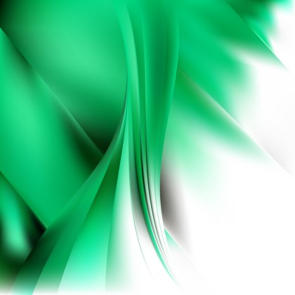 Abstract Green and White Background Vector Illustration