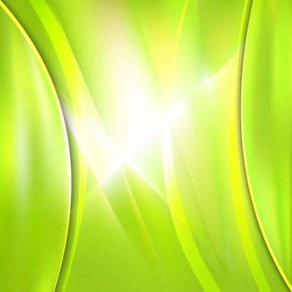 Abstract Green Yellow and White Background Vector Illustration